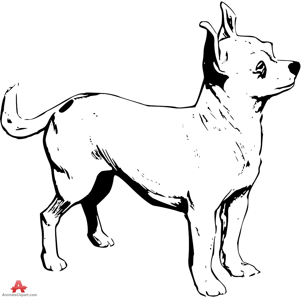 Chihuahua tongue out clipart black and white clipart free library Free Black Chihuahua Cliparts, Download Free Clip Art, Free Clip Art ... clipart free library