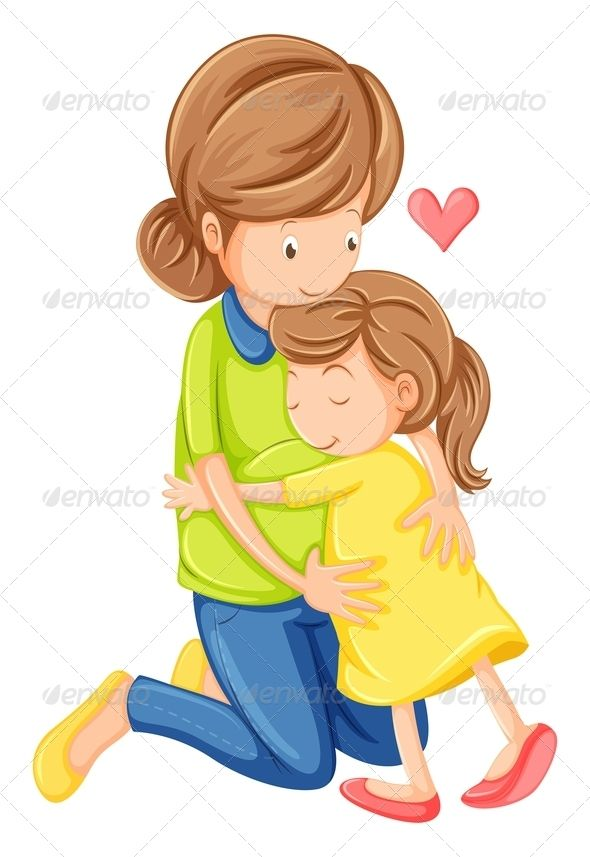 Child and mother talking to doctor clipart jpg royalty free download Love of a Mother and Daughter | Early Language for kids | Mother ... jpg royalty free download