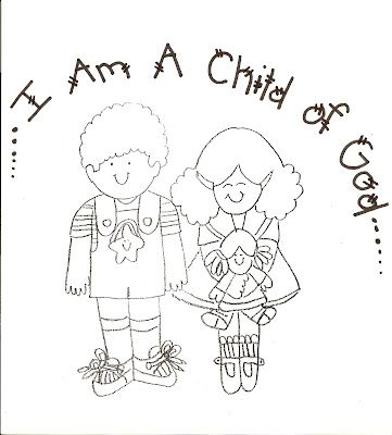 Child body shining clipart lds png transparent library LDS Nursery Color Pages: 1 - I Am A Child Of God | Church Teaching ... png transparent library