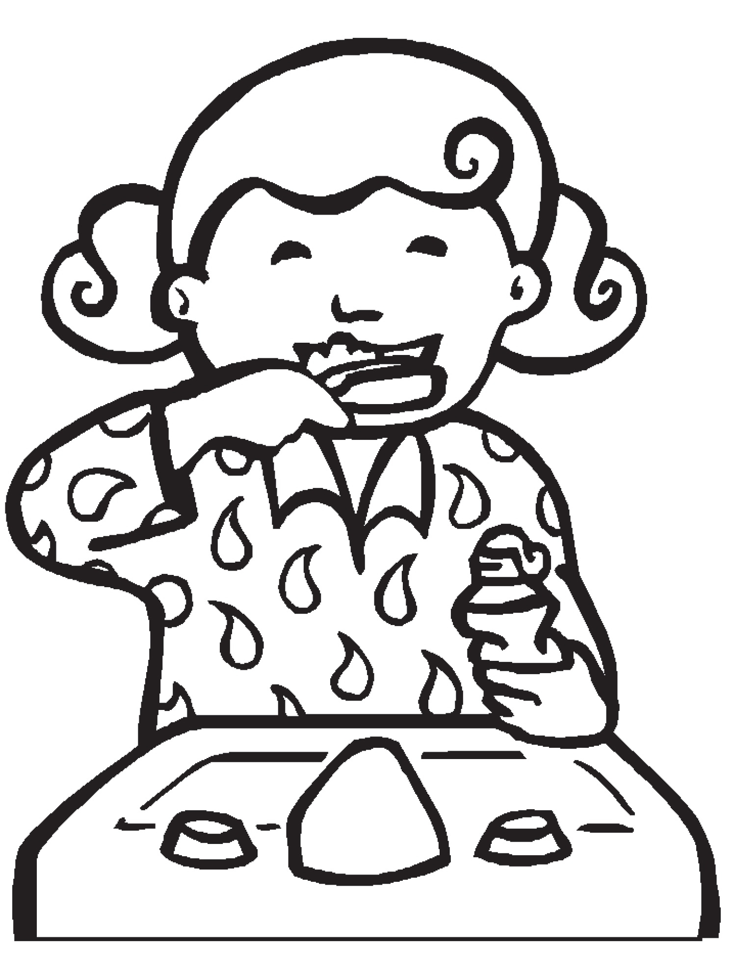 Child brushing teeth black and white clipart vector freeuse Brushing Teeth Drawing | Free download best Brushing Teeth Drawing ... vector freeuse