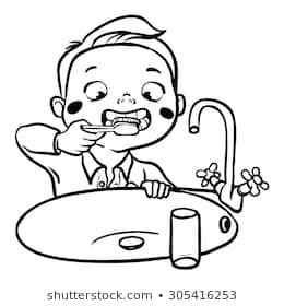 Child brushing teeth black and white clipart clip art transparent stock Child brushing teeth clipart black and white 5 » Clipart Portal clip art transparent stock