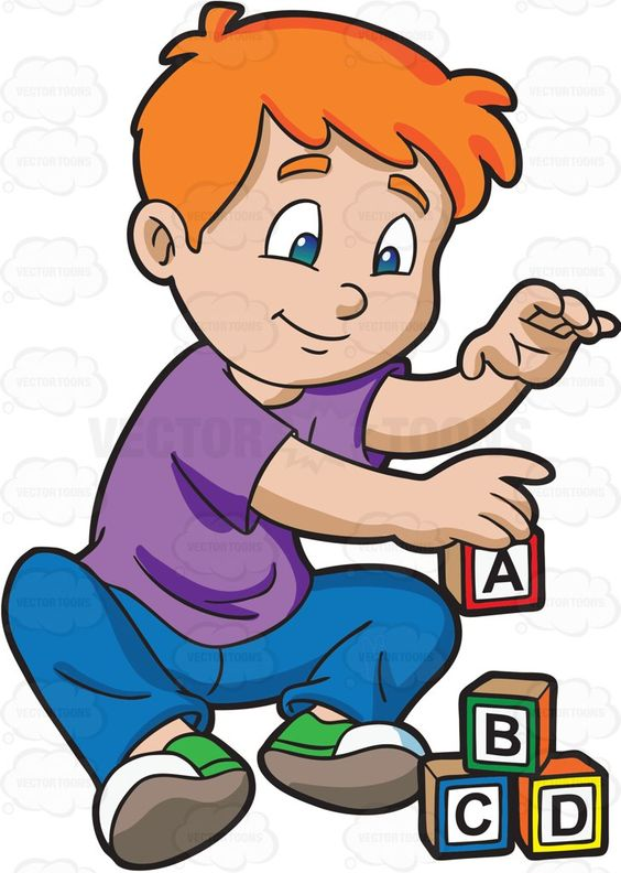 Child building with blocks clipart graphic free library A Young Boy Building Alphabet Blocks | Boys, Products and A young graphic free library