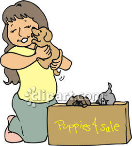 Child choosing clipart png freeuse stock A Girl Choosing a Puppy From a Royalty Free Clipart Picture png freeuse stock