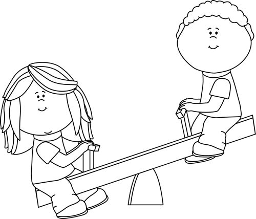 Up and down clipart black and white clipart stock Children playing clipart black and white 1 » Clipart Station clipart stock