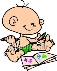 Child coloring clipart clip free library A Child Coloring In a Coloring Book - Royalty Free Clipart Picture clip free library