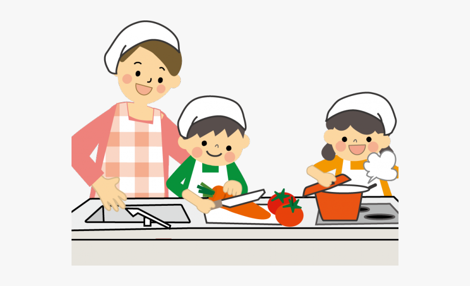 Child cooking clipart vector freeuse library Kids Cooking Clipart - Children Cooking Clipart, Cliparts & Cartoons ... vector freeuse library