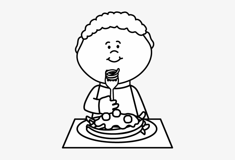 Child eating spaghetti black and white clipart clipart royalty free library Luxury Free Spaghetti Clipart Black And White Boy Eating - Eat ... clipart royalty free library