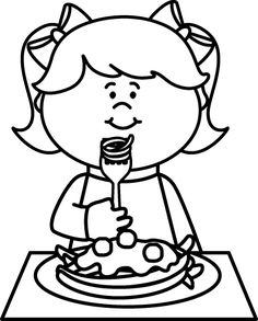 Child eating spaghetti black and white clipart picture royalty free library 50 Best Art Placemats images in 2017 | Food, Food items, Appliques picture royalty free library