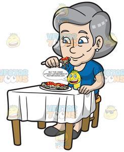 Child eating spaghetti black and white clipart clip art free A Mature Woman Eating Spaghetti clip art free
