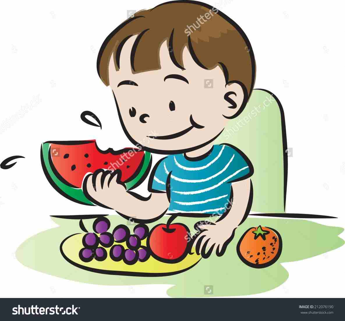 Child eating vegetables clipart black and white image transparent stock Clipart stationrhclipartstationcom child Child Eating Vegetables ... image transparent stock