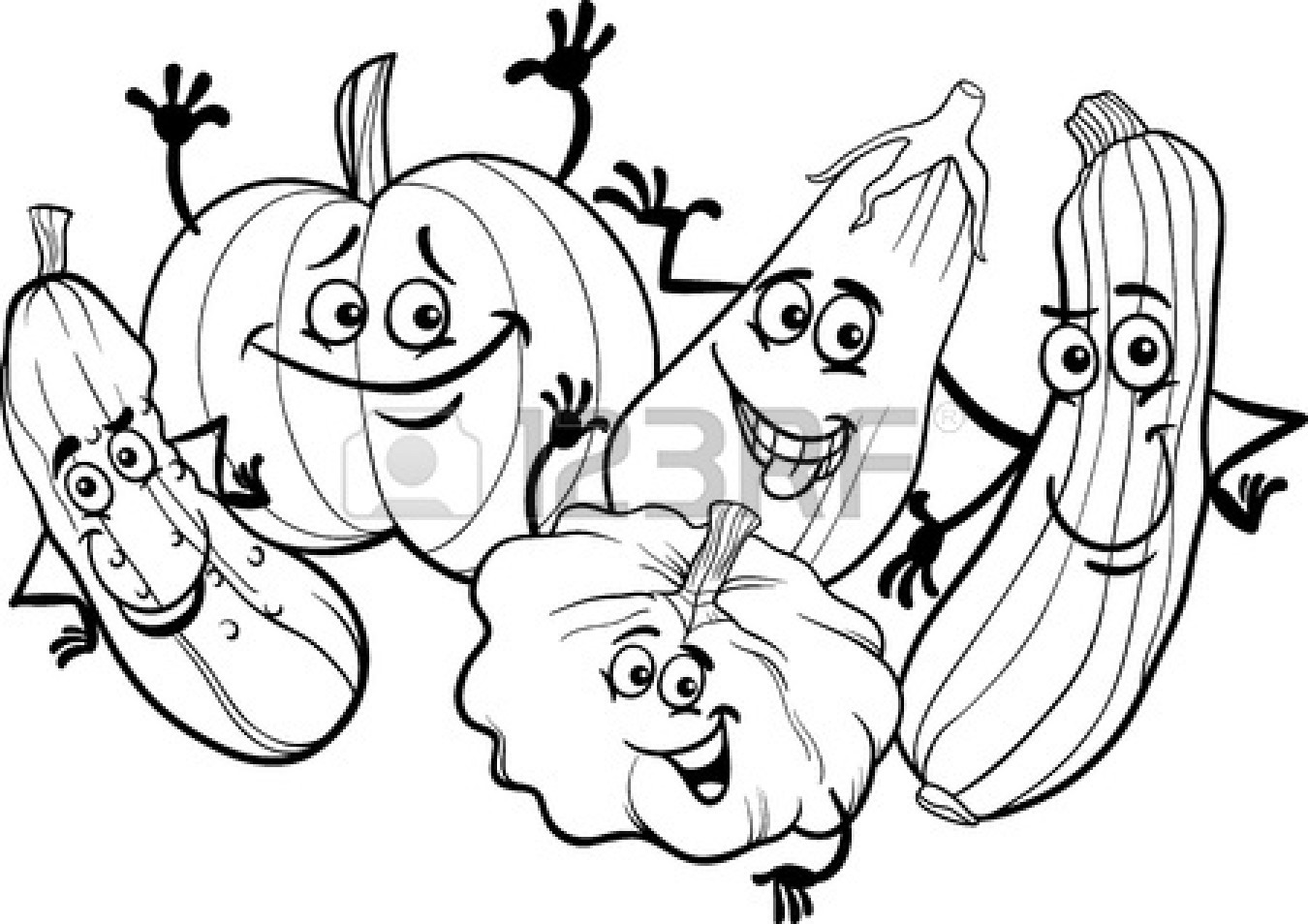 Child eating vegetables clipart black and white image Fruit And Vegetable Clipart Black And White   Free download best ... image