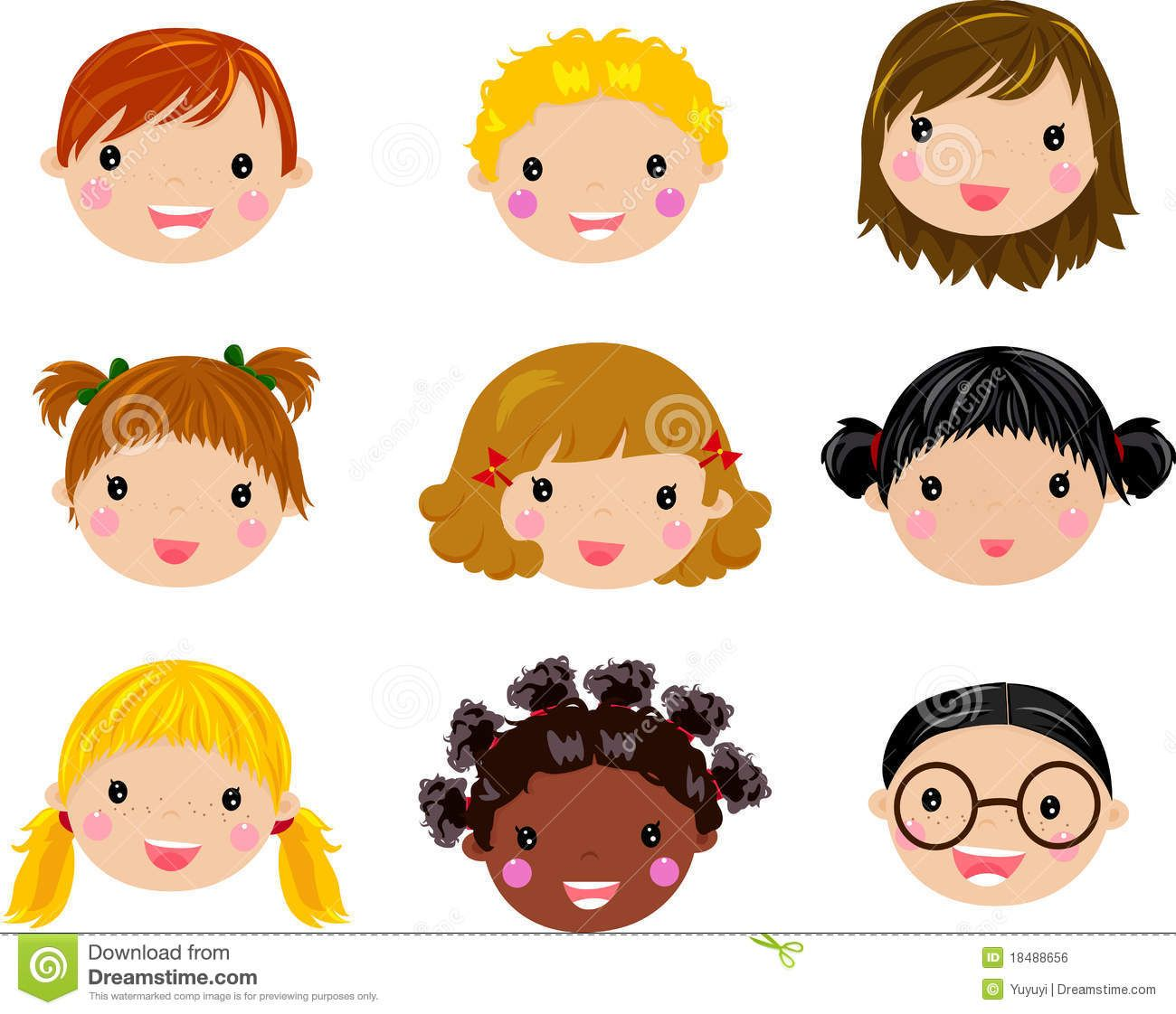 Child face clipart jpg black and white library Cartoon children face | RS | Girl face drawing, Cartoon girl drawing ... jpg black and white library