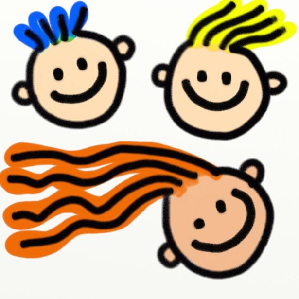 Clipart kid smile banner transparent Kids Faces Clipart Free Stock Photo - Public Domain Pictures banner transparent