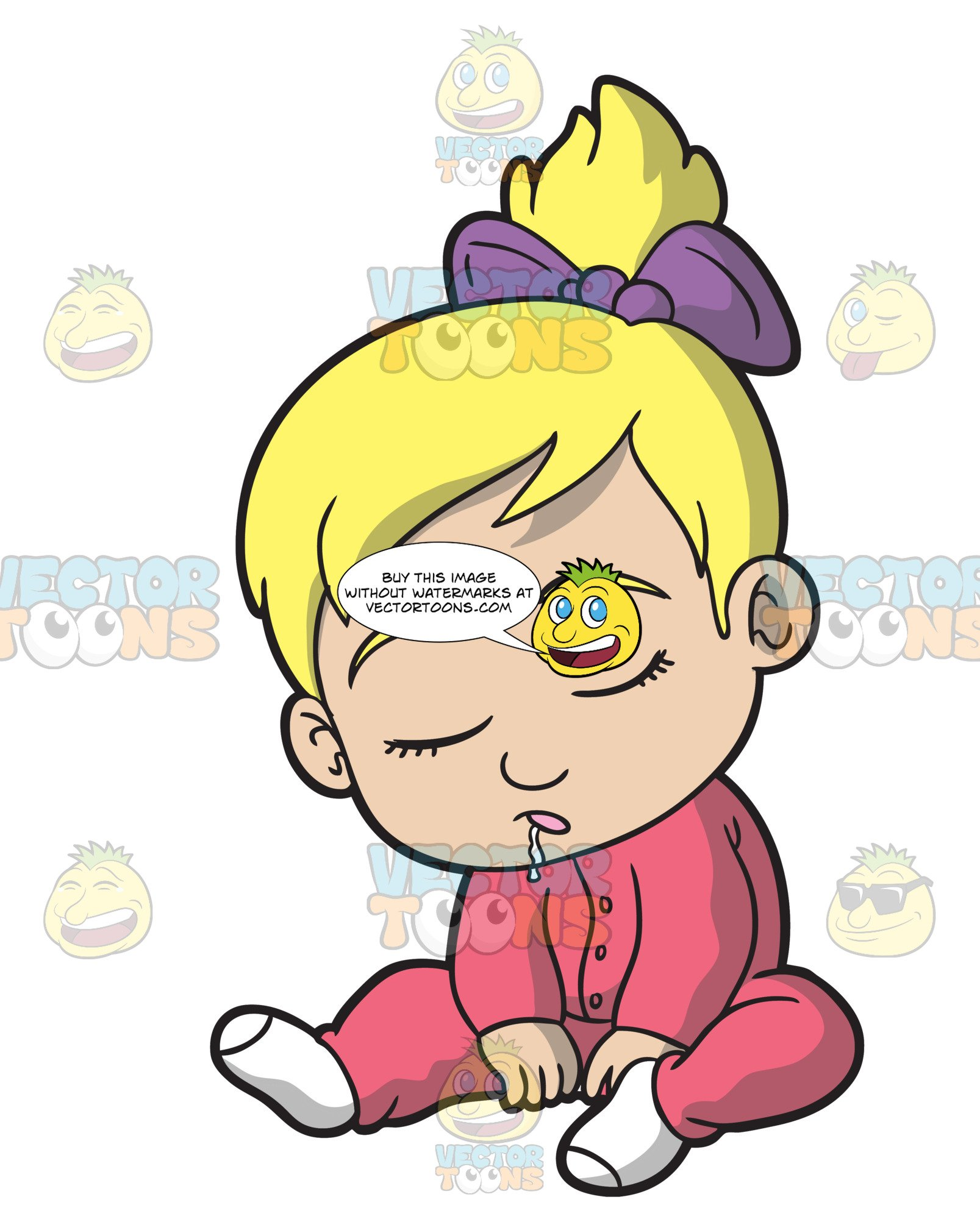 To fall asleep clipart jpg library stock A Baby Girl Falling Asleep On The Floor jpg library stock