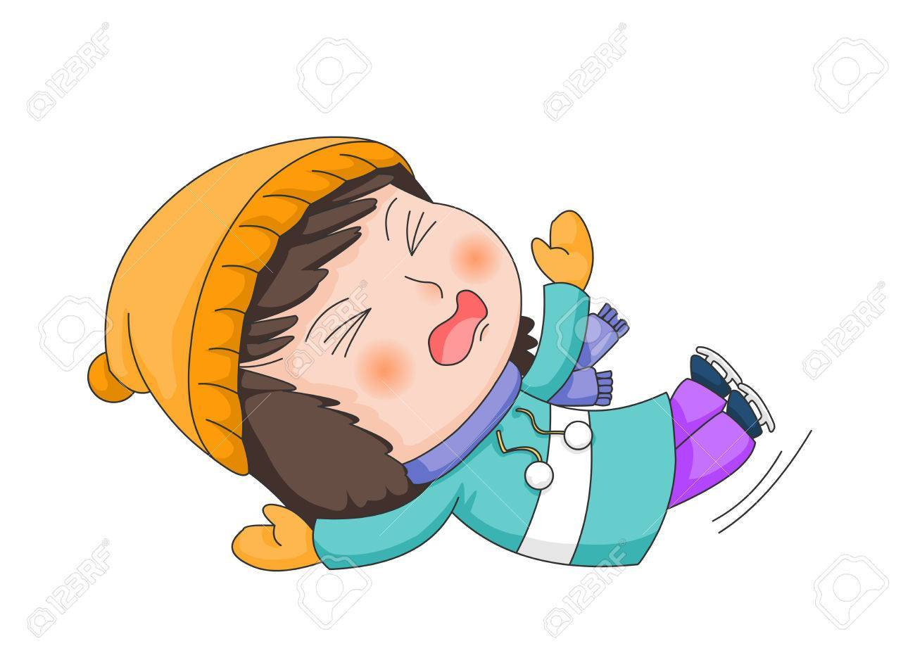 Child falling clipart