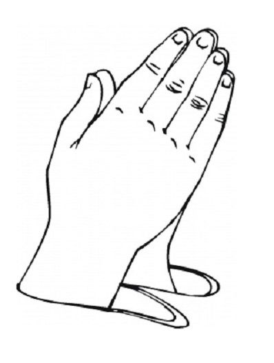 Praying hands clipart kids jpg free download pictures of praying hands for preschool | Coloring Pages of Praying ... jpg free download