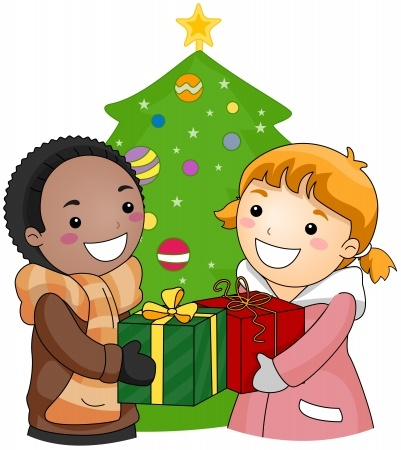 Child giving gift at mass clipart image royalty free Holiday Giving Clipart | Free download best Holiday Giving Clipart ... image royalty free