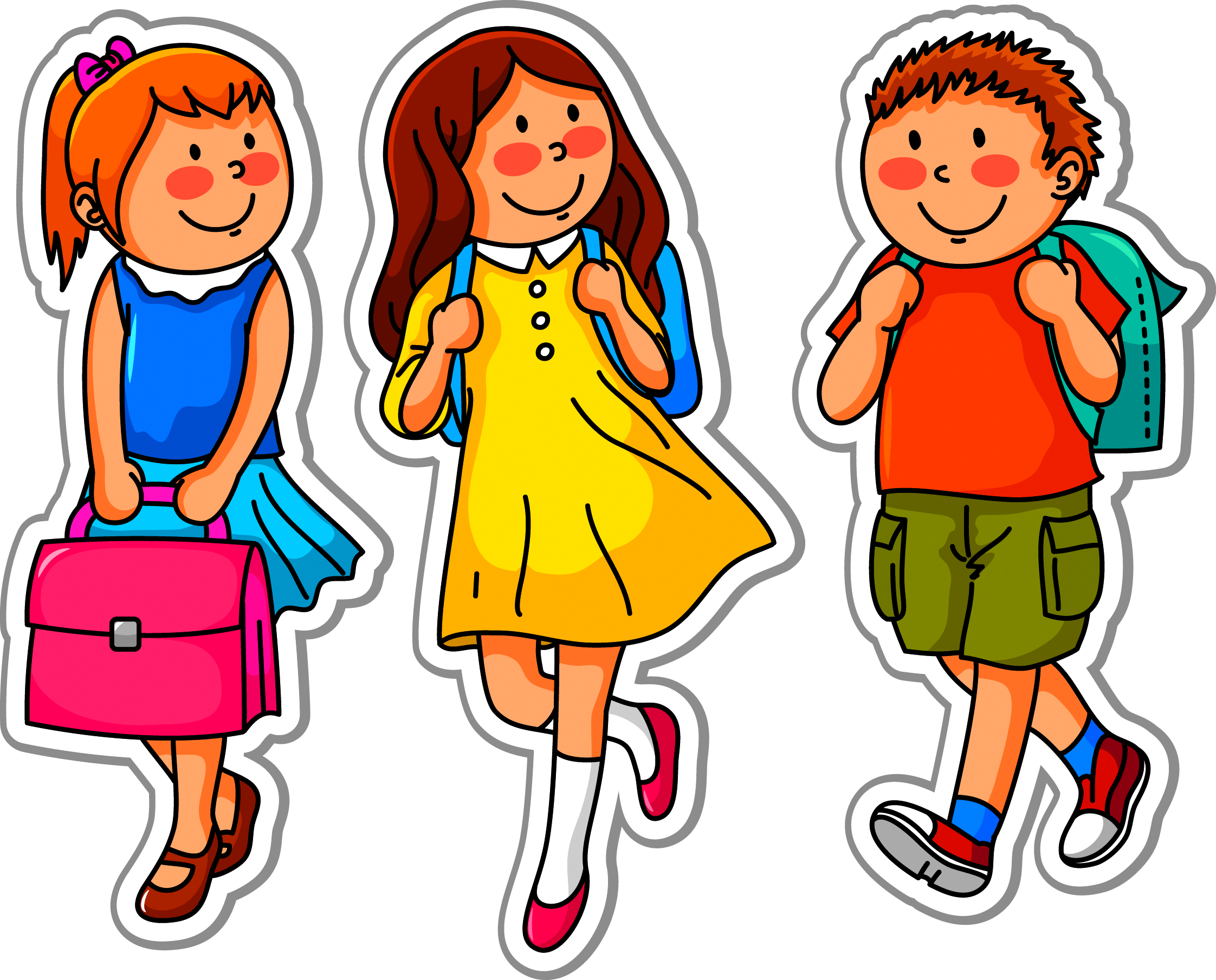 Child going to school clipart jpg library stock School Child Clip art - Children go to school endorsement package ... jpg library stock