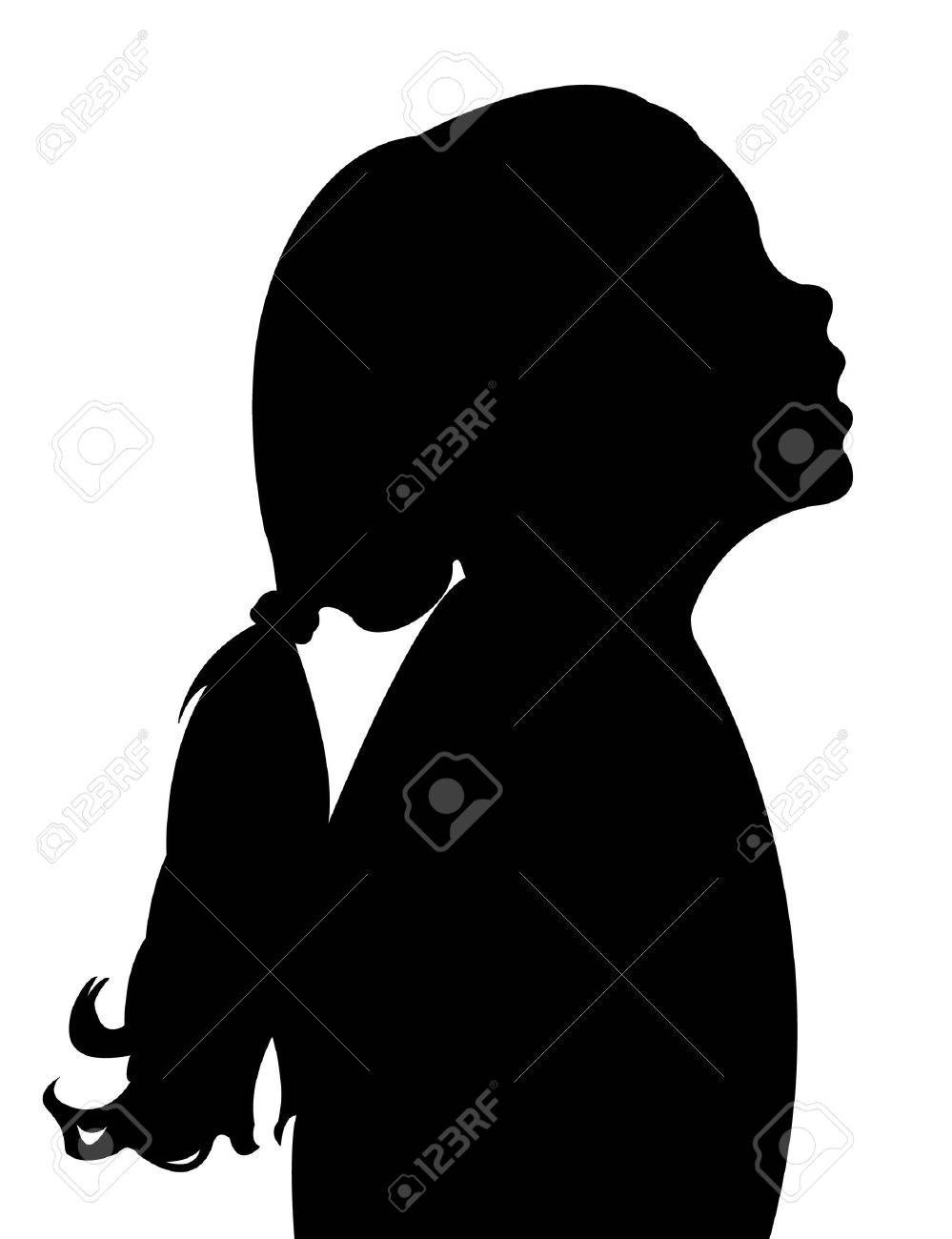 Child head silhouette clipart vector library download Stock Vector | Silhouette | Silhouette vector, Silhouette, Children vector library download