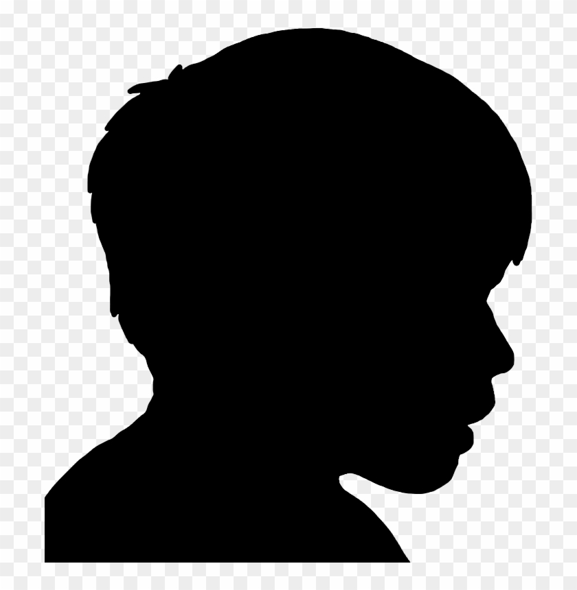 Child head silhouette clipart image freeuse Face Silhouettes Of Men, Women And Children - Silhouette Of Boys ... image freeuse