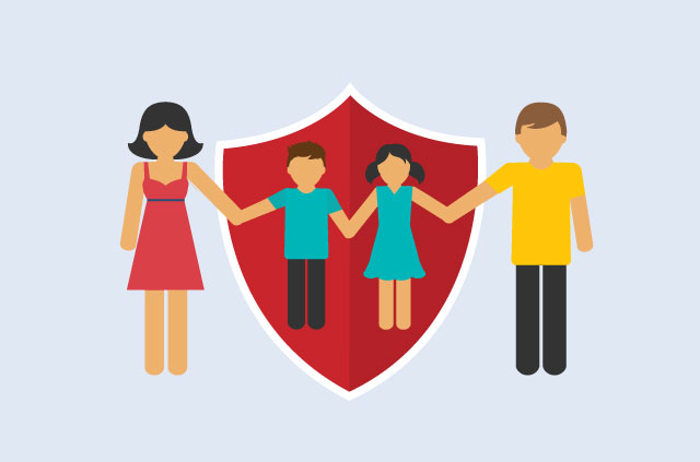 Child helping a child to be safe clipart banner royalty free stock Internet safety guide: 5 ways to help your child stay safe online banner royalty free stock