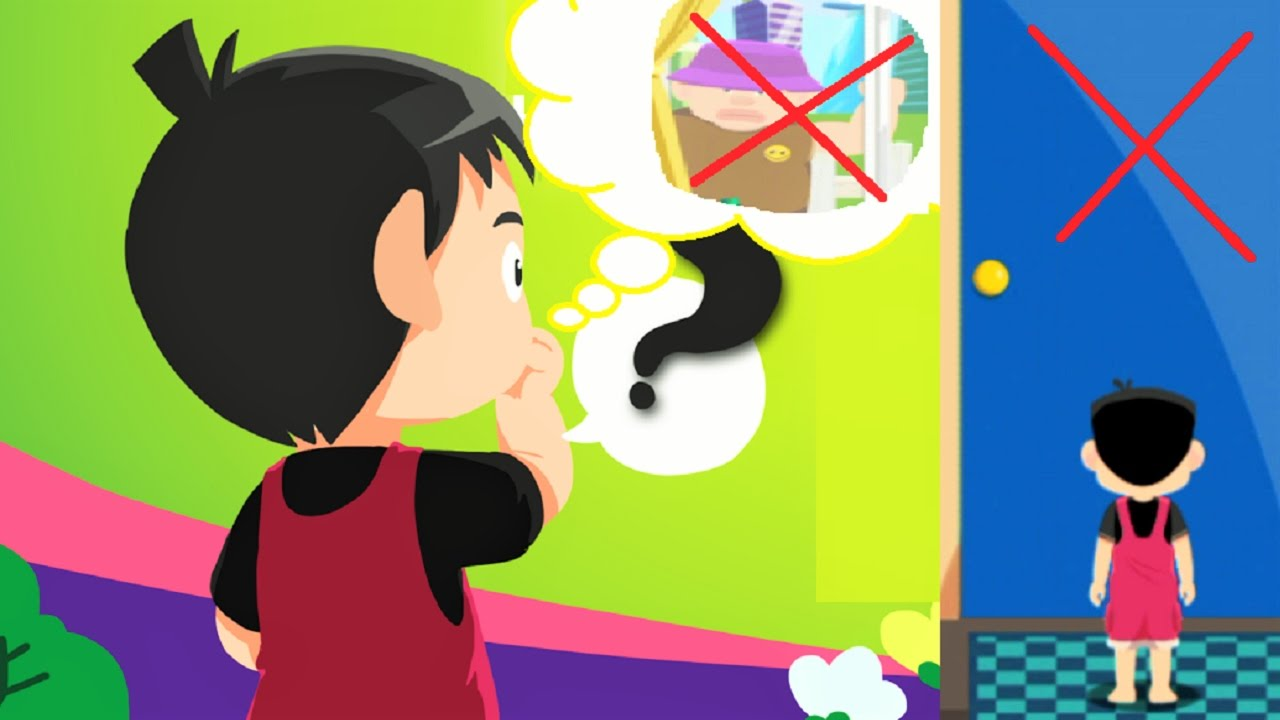 Child helping a child to be safe clipart clip royalty free download Teach children About Safety Tips | NEVER OPEN THE DOOR FOR STRANGER |  Educational Game for Kids clip royalty free download