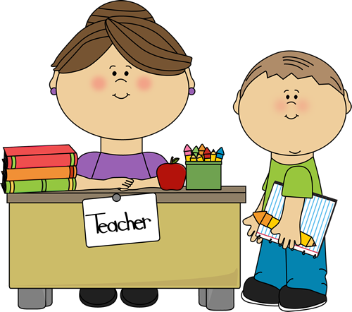 Clipart of teacher and students clipart freeuse stock Teachers Helping Students Clipart clipart freeuse stock