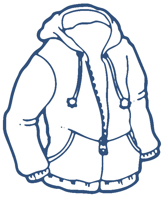 Child in jacket clipart black and white clipart library library Clipart Black And White Sweater - Free Clipart clipart library library