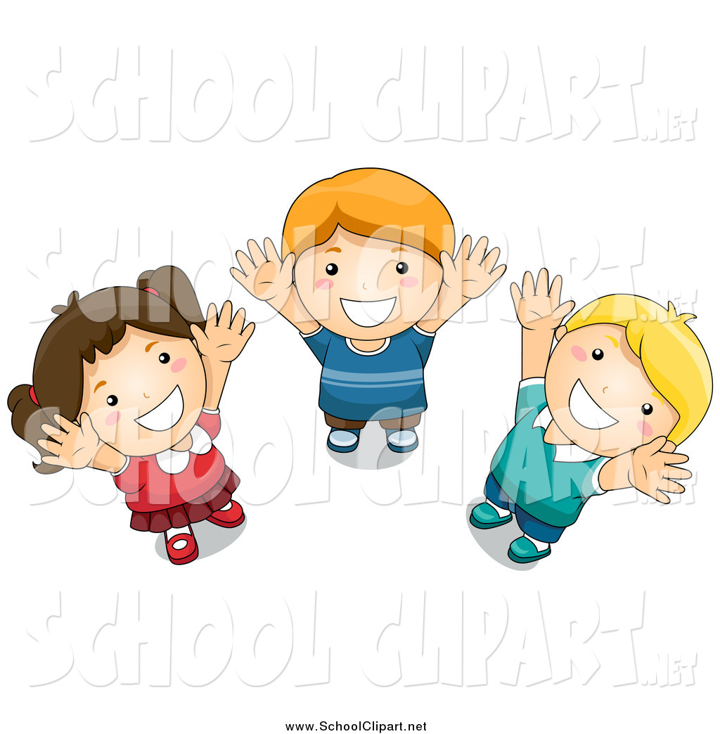 Child looking clipart image download Clip Art of School Kids Looking up and Reaching by BNP Design Studio ... image download