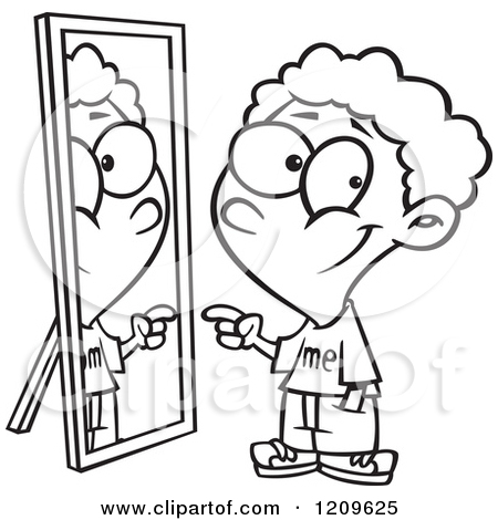 Child looking in mirror clipart picture free Stock Photo Of 1950s Child Trying On Hat L #336117 - Clipartimage.com picture free