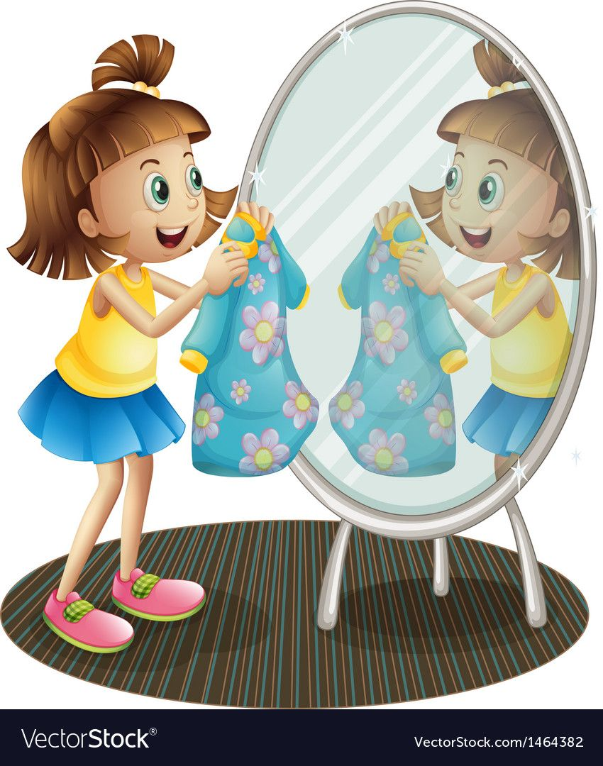 Child looking in mirror clipart svg stock Pin by Veronica Loa on Imagenes | Mirror, Preschool activities ... svg stock