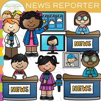 Child news reporter clipart clip art TV News Reporter Clip Art clip art