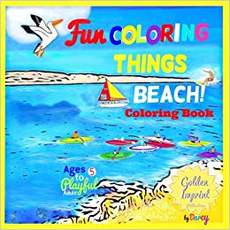 Child on beach waiting for ship clipart image black and white stock BEACH COLORING BOOK: FUN COLORING THINGS (Beach Coloring Book Volume ... image black and white stock