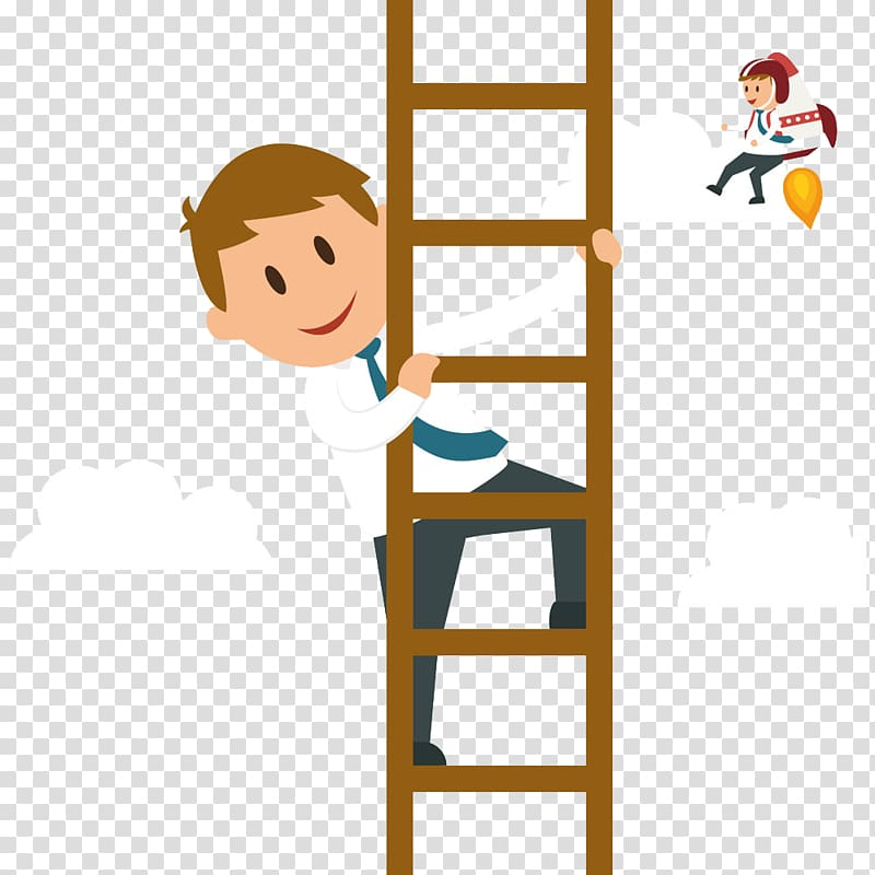 Child on ladder clipart image black and white stock Cartoon Businessperson Graphic design Illustration, Man climb the ... image black and white stock