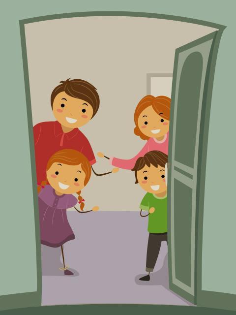 Child opening door clipart vector transparent download Halloween, the Open Door Holiday | Theo Presents vector transparent download