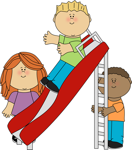 Kids clipart from a long time ago jpg download children at play clip art | Kids Playing on a Slide Clip Art Image ... jpg download
