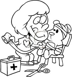 Child playing doctor clipart black and white jpg download Doctor Clip Art Black And White | Clipart Panda - Free Clipart Images jpg download