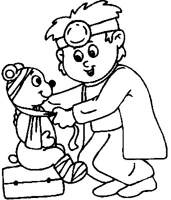 Child playing doctor clipart black and white clip art freeuse library Free Doctor Picture For Kids, Download Free Clip Art, Free Clip Art ... clip art freeuse library