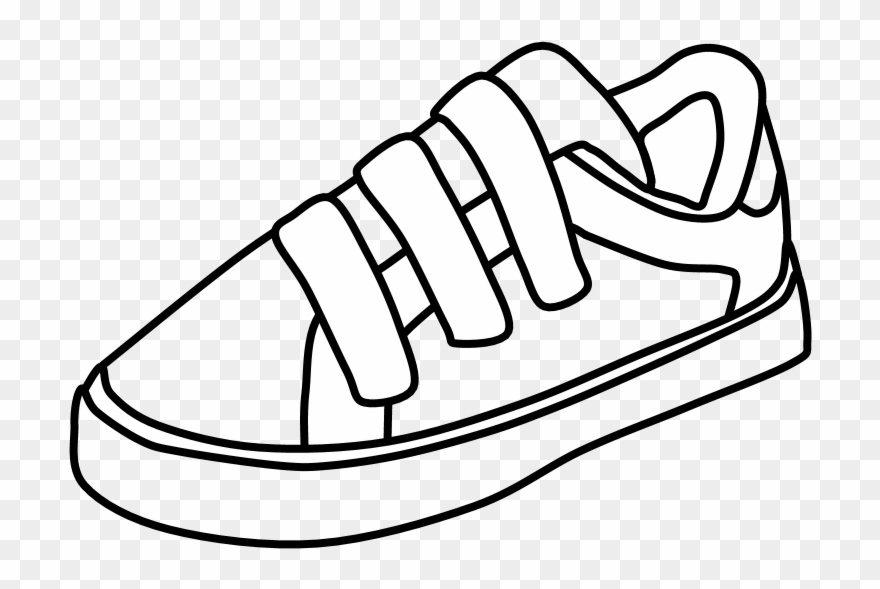 Led shoes clipart clip royalty free stock Sneakers, Velcro, Black And White, Png - Walking Shoe Clipart ... clip royalty free stock