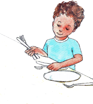 Set table clipart graphic freeuse stock Kids Doing Chores At. Chore Clipart Kid Set Table Clip Black A - 444 ... graphic freeuse stock