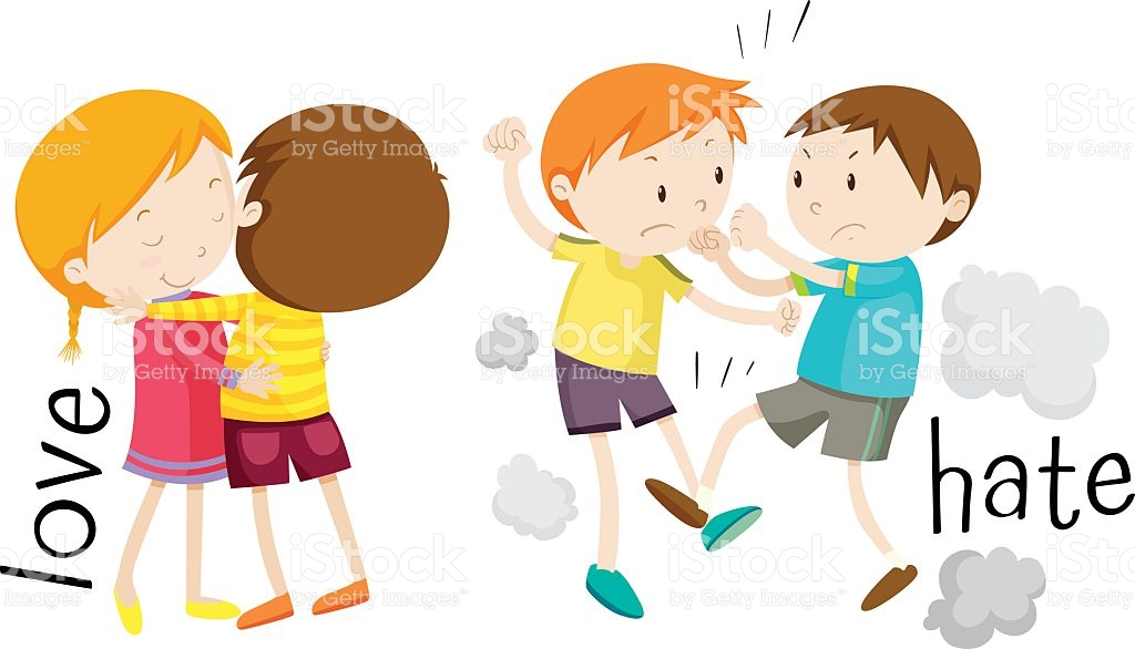 Kids Showing Love And Hate stock vector art 622891704 | iStock png