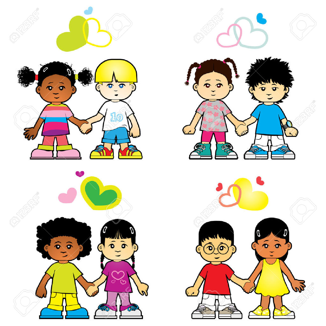 Children Love Each Other Royalty Free Cliparts, Vectors, And Stock ... svg library