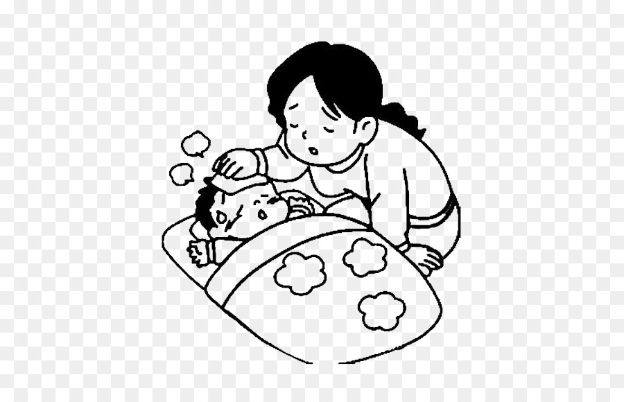 Child sick in bed black and white clipart svg transparent stock Sick Child Png Black And White & Free Sick Child Black And White.png ... svg transparent stock