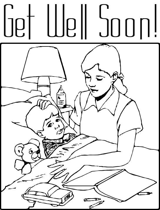 Child sick in bed black and white clipart image stock Free Sick Boy Cliparts, Download Free Clip Art, Free Clip Art on ... image stock