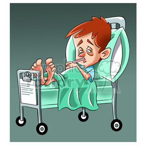 Sick clipart kid jpg royalty free child sick in hospital bed clipart. Royalty-free clipart # 393491 jpg royalty free