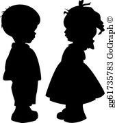 Child siloette clipart graphic transparent library Child Silhouette Clip Art - Royalty Free - GoGraph graphic transparent library