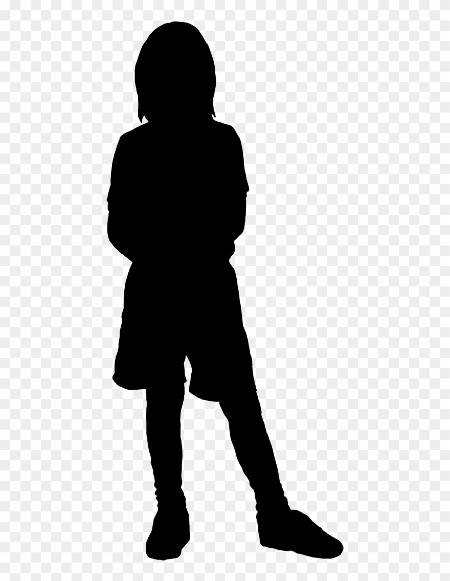 Child siloette clipart picture free Beautiful Silhouettes Of Children - Girl Kid Silhouette Clipart ... picture free