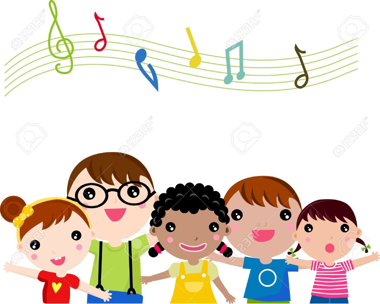Child singing clipart vector transparent download Children singing clipart » Clipart Portal vector transparent download