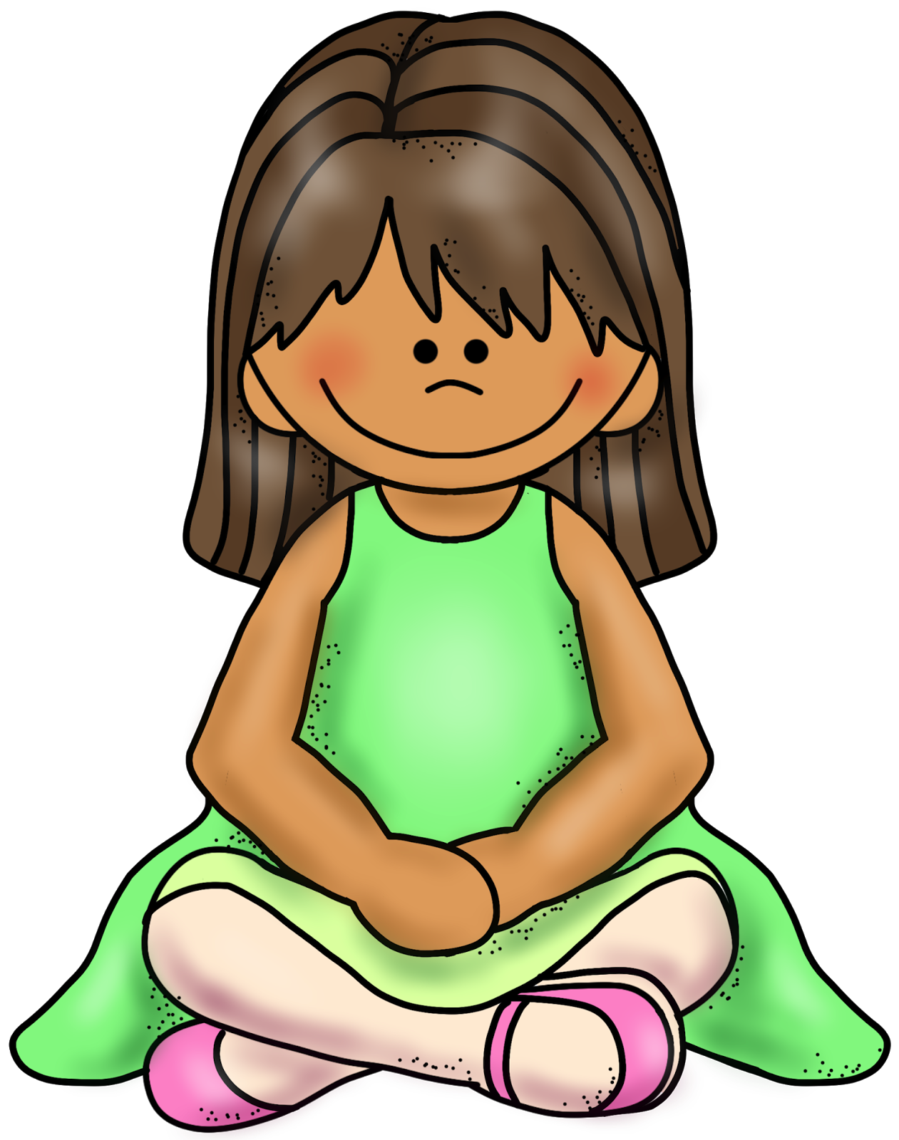 Child sitting still clipart svg black and white stock What\'s up with W-Sitting? — Buckle My Shoe svg black and white stock