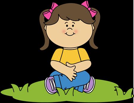 Child sitting still clipart